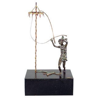 Curtis Jere Bronze Maypole Sculpture 1968- Signed