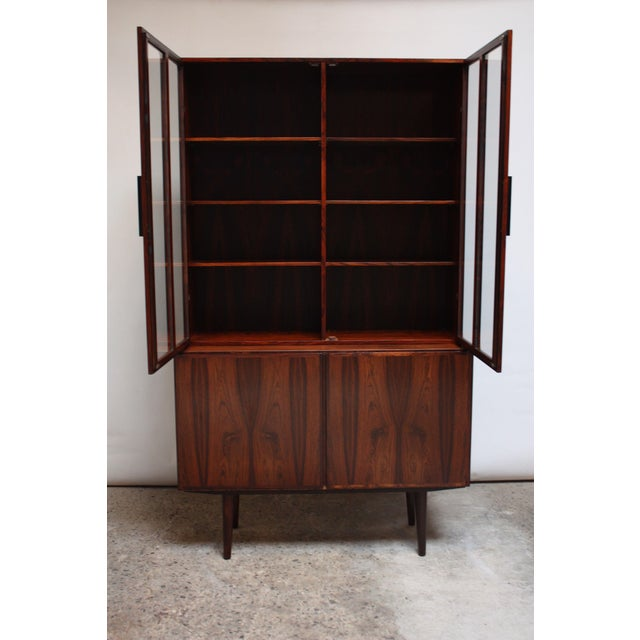 Danish Rosewood Two-Piece Bookcase by Gunni Omann - Image 3 of 8