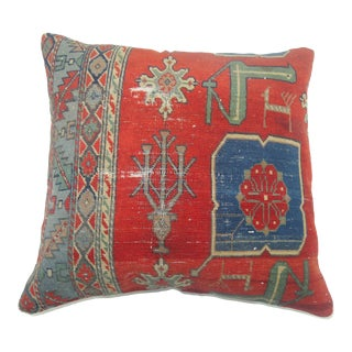 Red & Blue Caucasian Rug Pillow