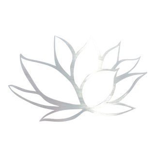 Brushed Lotus Flower Metal Wall Art