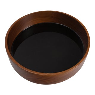 Hand carved bowl made from a rare wood called corteza lingnum vitae-harvested from fallen trees