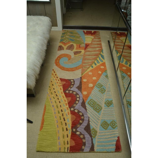 Attractive Carpet Runner in Multi-Colored Deco Pattern - Image 9 of 9