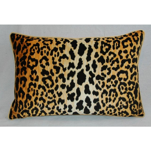 Hollywood Glam Leopard Spot Safari Velvety Cotton Feather & Down Pillow - Image 4 of 4
