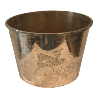 Polished Brass Fighting Cocks Planter
