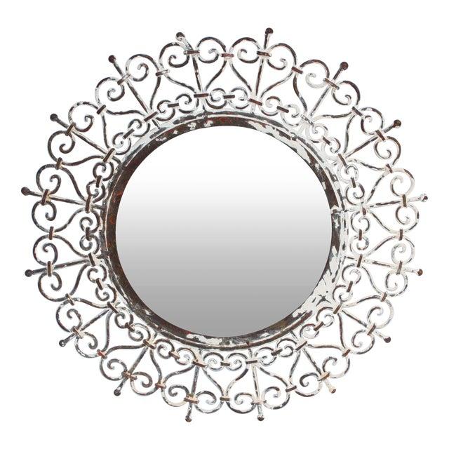 White Iron Mirror - Image 1 of 4