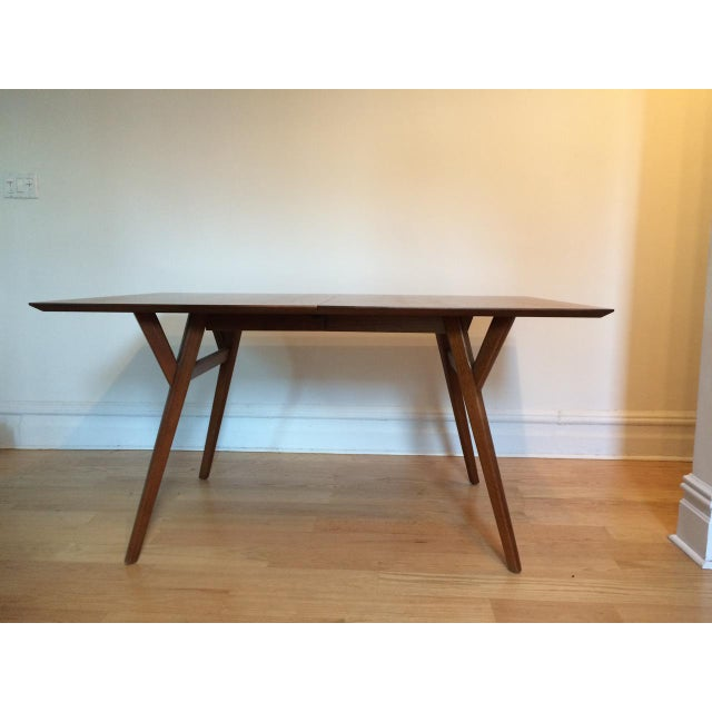 west elm mid century style expandable dining table chairish. Black Bedroom Furniture Sets. Home Design Ideas
