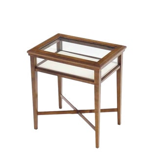 Small Lift Top End Table Display Case