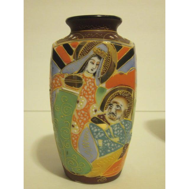 Image of Vintage Japanese Satsuma Vases - Set of 3