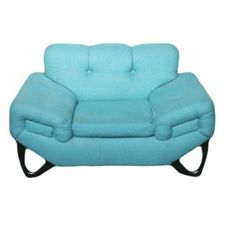 Adrian Pearsall Style Vintage Blue Lounge Chair