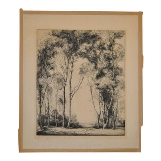 """1930s Vintage """"The Gateway"""" Etching by Mildred Bryant Brooks"""