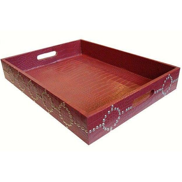 Medium size Studded Croc Tray - Image 1 of 5