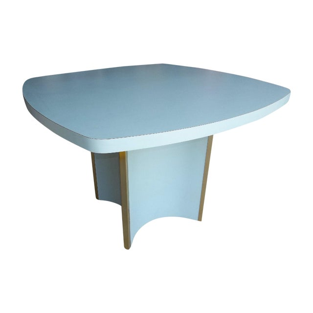 Mid-Century Modern Blue Formica Dining Table - Image 1 of 5