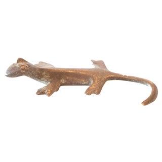 Vintage African Bronze Casting of Gecko
