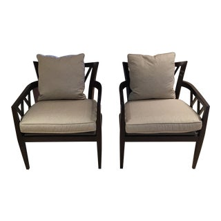 Baker Furniture Double X-Back Framed Chairs- A Pair