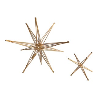 Vintage Wire Folding Stars - A Pair