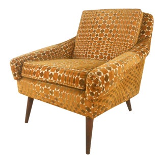 Mid-century Modern Lounge Chair in Vintage Fabric