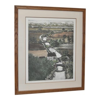 "Don Magno ""Brighton Canal"" Aquatint Etching"