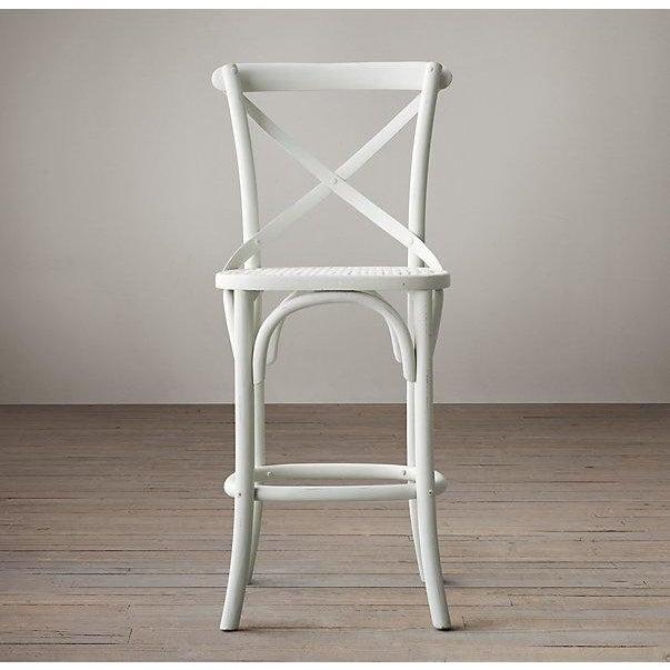 Distressed White Bar Stools - Set of 2 - Image 6 of 7