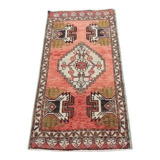 Vintage Tribal Oushak Rug - 1′9″ × 3′6″