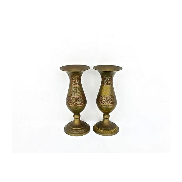 Indian Fluted Vases - A Pair - Image 3 of 9