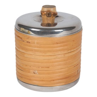 Rattan Clad Lidded Box by Carl Auböck