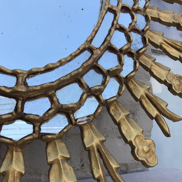 Spanish Gilt Wood Sunburst Mirror - Image 6 of 7