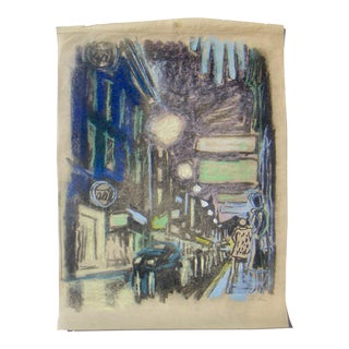 """""""City Lights"""" WWII Drawing"""