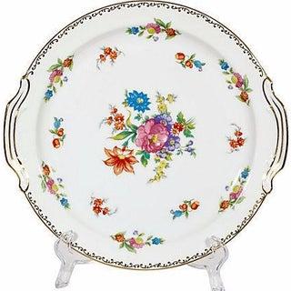 1950s Floral Handled Serving Plate