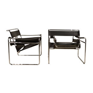 Knoll Wassily Marcel Breuer Chairs - Pair
