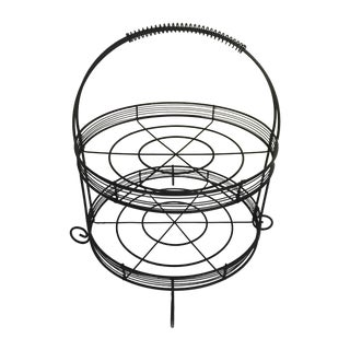 Wire Two-Tiered Stand