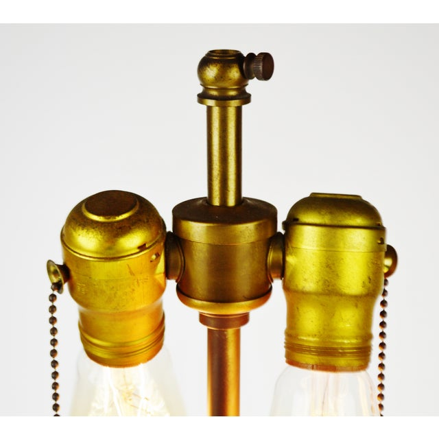 Vintage Satin Glass Table Lamp - Image 6 of 10