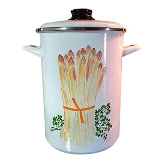 Vintage 1970's Beka Enamel Asparagus Cooker - 3 Pieces