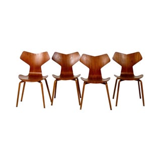 Arne Jacobsen 1957 Grand Prix Chairs - Set of 4