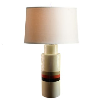 Hand Painted Ivory Ceramic Table Lamp
