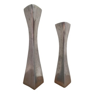 Aluminum Candlestick Holders - a Pair