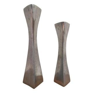 Aluminum Candlestick Holders - a Pair