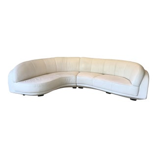 Modern Arabesque Curved White Sectional