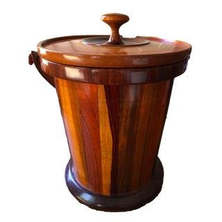 Mid-Century Multi Wood Costa Rica Ice Bucket