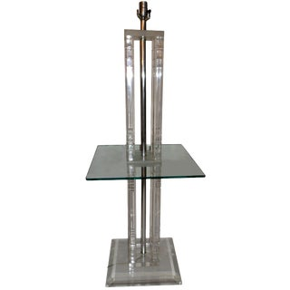 Square Lucite Floor Lamp