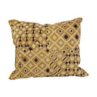 Vintage Embroidered Kuba Cloth Pillow