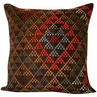 Vintage 15'' Square Handmade Kilim Pillow