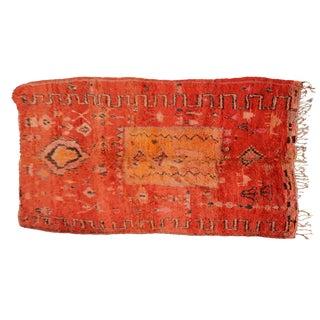 Vintage Moroccan Beni Ourain Rug- 2′7″ × 9′