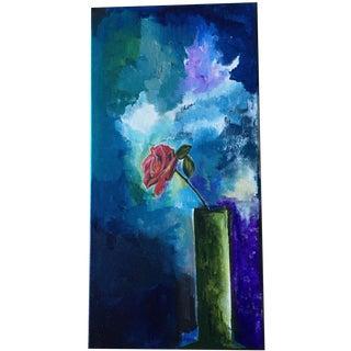 """Victorian Impressionist """"Claret"""" Painting"""