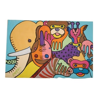 Multicolored Zoo Animal Painting
