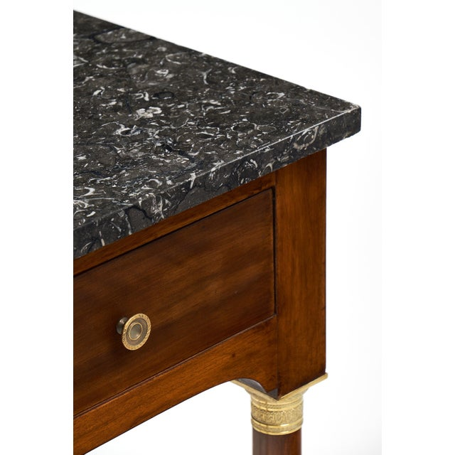 Image of Empire Style Marble Top Side Tables- A Pair