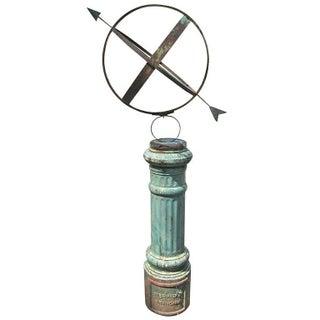 Rustic Armillary Globe on Stand
