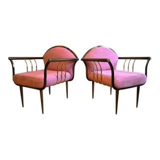 """Pair of Design Institute of America """"DIA"""" Armchairs"""