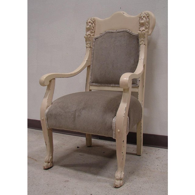 Vintage Antique Victorian Upholstered Chair - Image 2 of 5