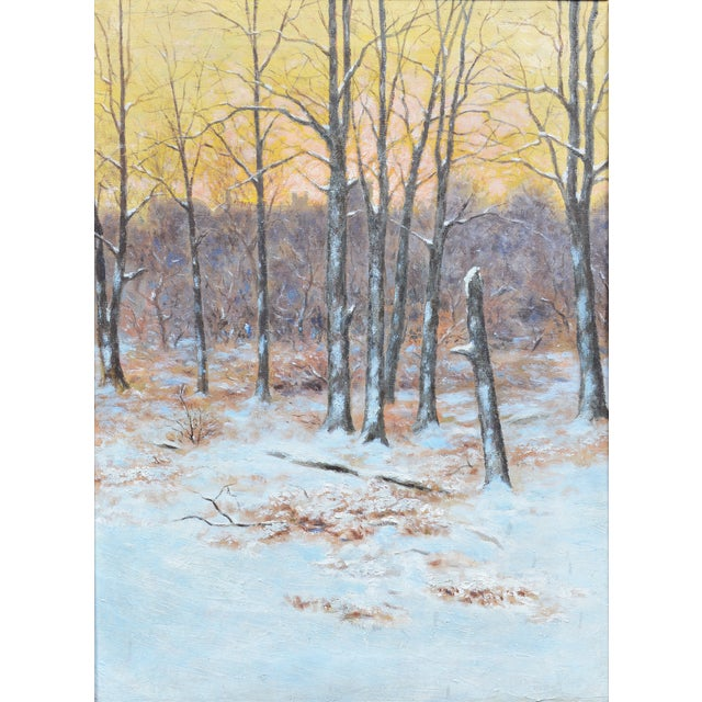 Image of Winter Impressionist Painting of Central Park