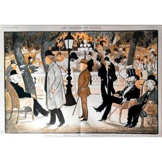"""1906 La Vie Parisienne """"Au Jardin de Paris"""" Print"""